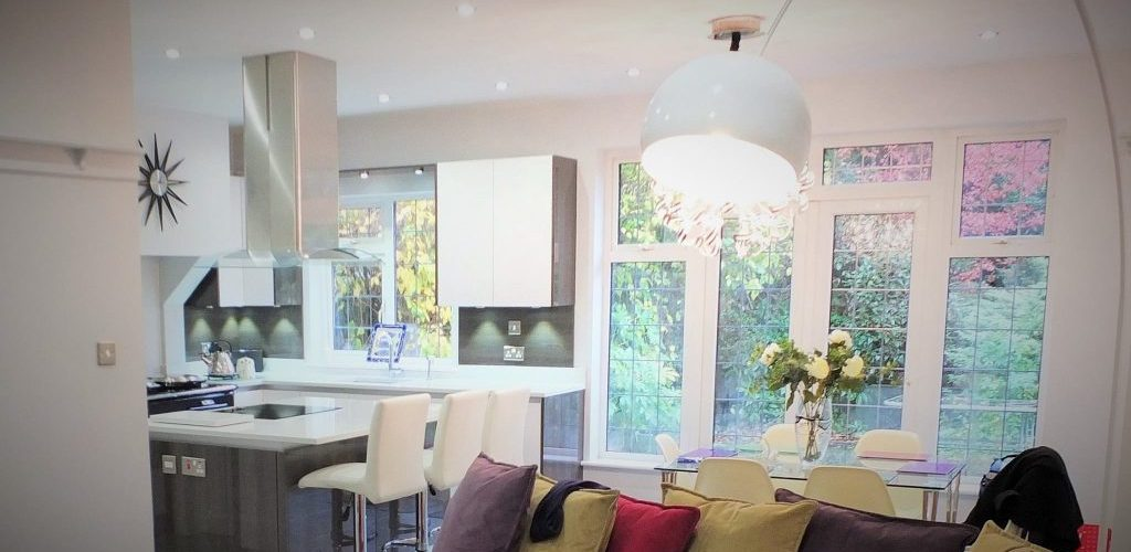 Winsford Gardens living room and kitchen view