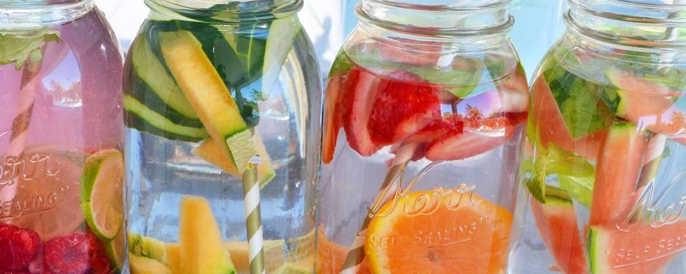 healthy water in a jar