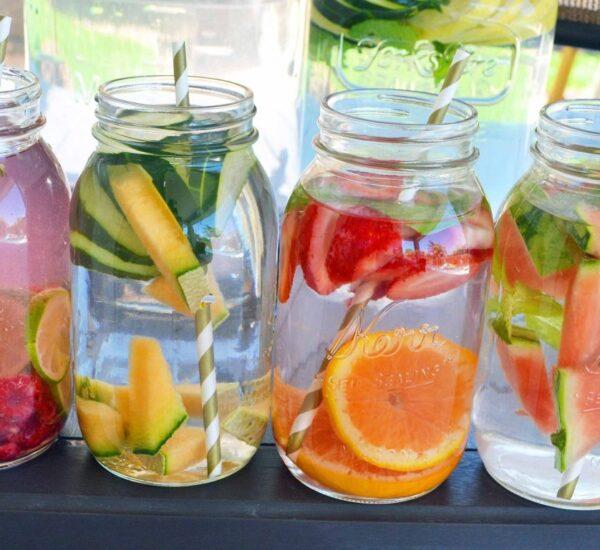 healthy water in a jar