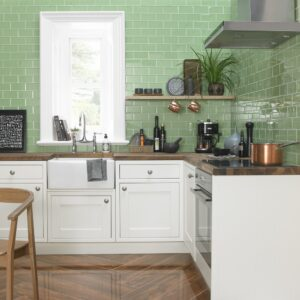 kitchen with fresh colour design