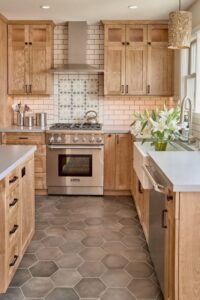 kitchen design with texture