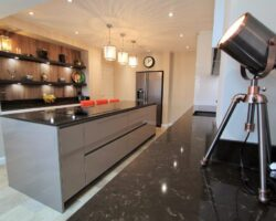 Trinity Close black granite countertop