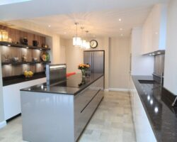Trinity Close black granite kitchen design