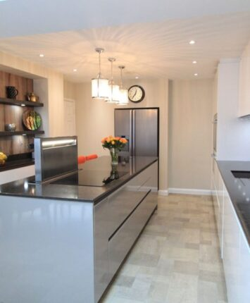 Trinity Close black granite kitchen design