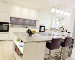 Rectory Garth kitchen countertops with stool