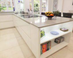 Rectory Garth kitchen island view