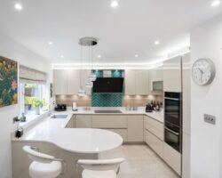 Sandhill Road white kitchen modern design