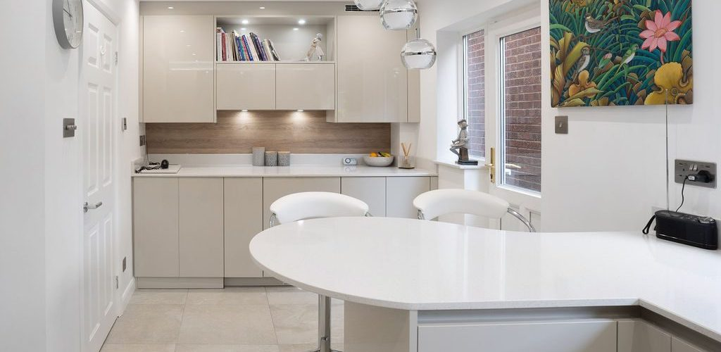 Sandhill Road modern kitchen design with good lightning