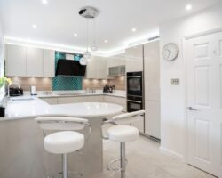 Sandhill Road kitchen design with drawers and cupboards for small spaces
