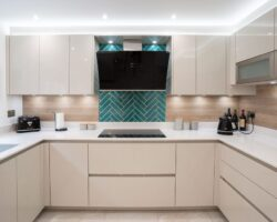 Sandhill Road kitchen design with drawers and cabinets