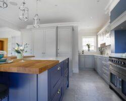 Hamilton House classy blue decor