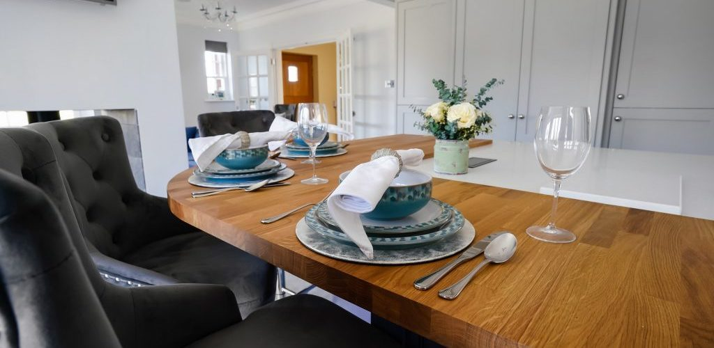 Hamilton House table setup