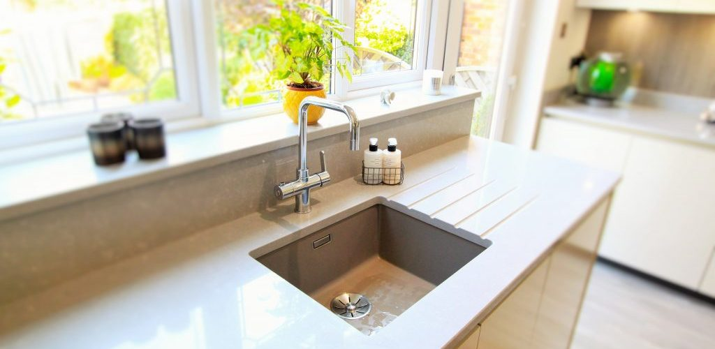 Sidwell Chase simple kitchen sink design