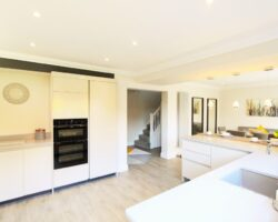 Sidwell Chase all white kitchen design