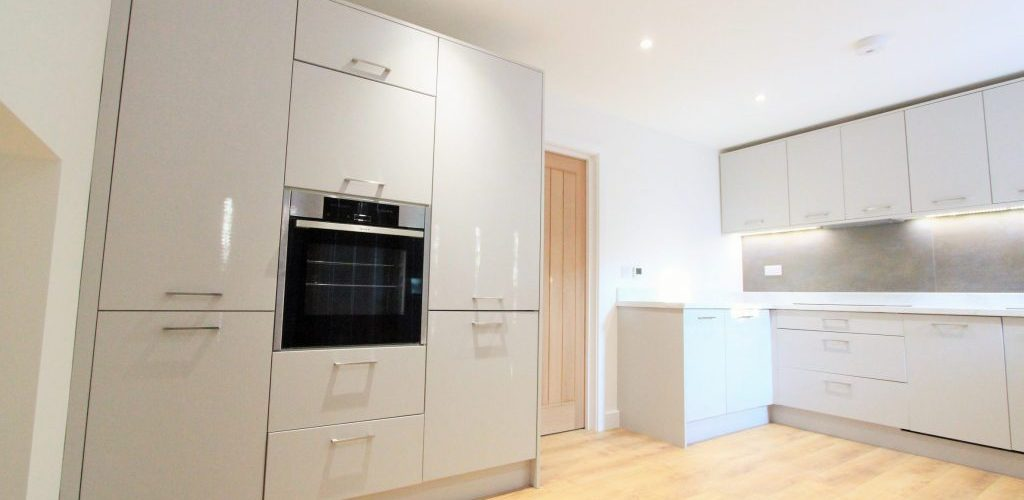 Southend Road white kitchen cabinet design full view
