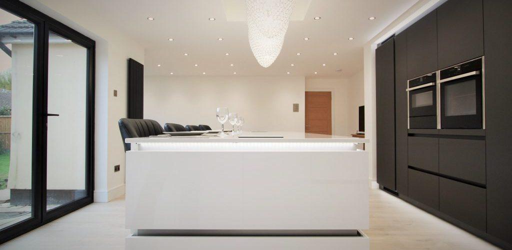 Uplands Road white and dark brown kitchen design