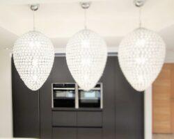 Uplands Road kitchen chandeliers