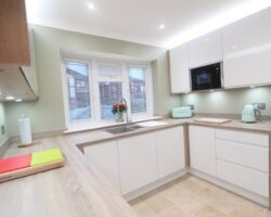 Westwater clean and fresh kitchen design