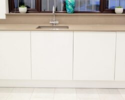 The Glen all white kitchen cabinets