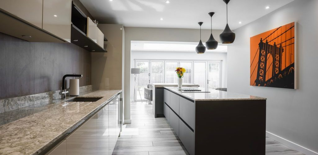 Wansunt Road countertop and kitchen island granite