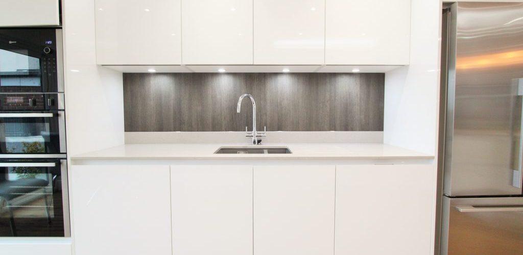 High Road Rayleigh neutral modern kitchen sink design