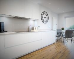 High Road Rayleigh all white kitchen design