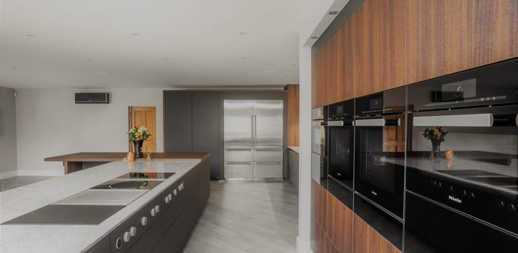 Kiln House Hall Road wood and marble kitchen style