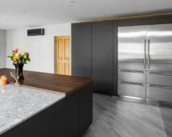 Kiln House Hall Road sophisticated wood and marble kitchen design