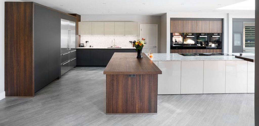 Kiln House Hall Road modern spacious wood kitchen design
