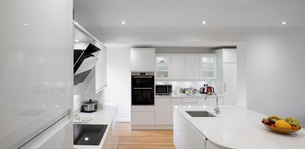 Albany Road kitchen all white design