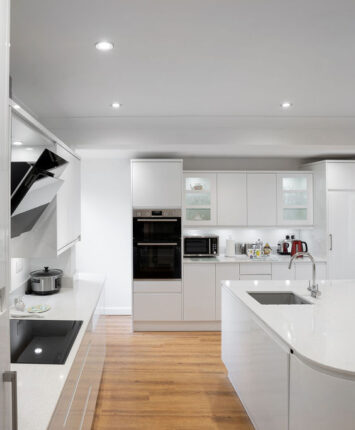 Albany Road kitchen all white design