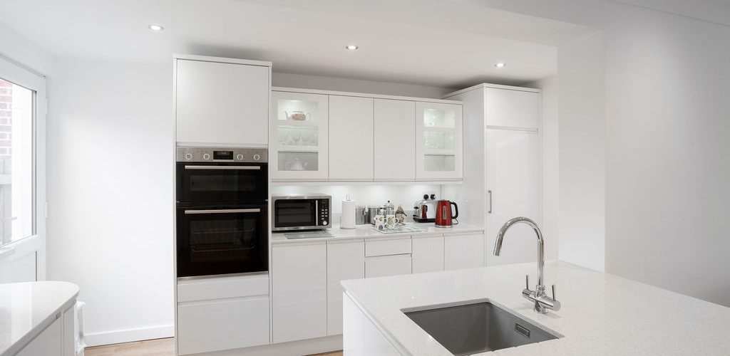 Albany Road kitchen appliance and drawers