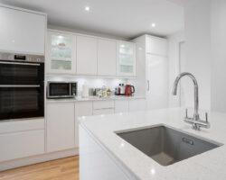 Albany Road all white kitchen design