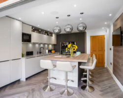 Whitehouse Chase white and grey kitchen full view