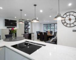 Warren Road glamorous kitchen and dinning