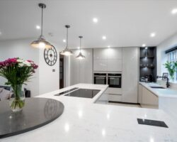 Warren Road glossy marble kitchen design