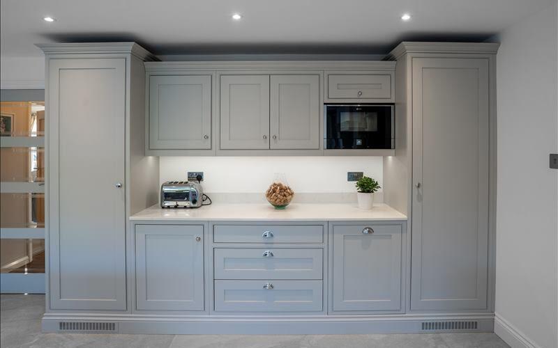 Weare Giffard kitchen side cabinet with appliances